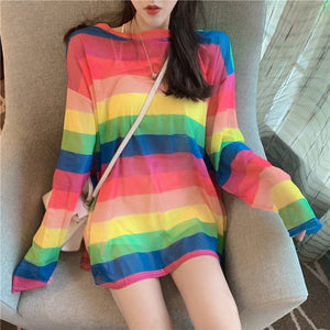 Rainbow Stripe T-shirt AD11896