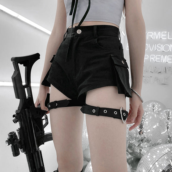 Heart Buckle Straps Shorts AD11869