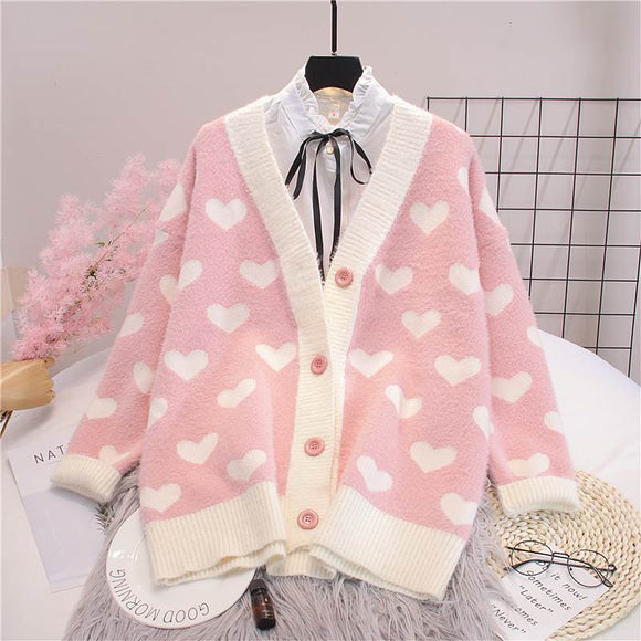 Heart Cardigan AD12218