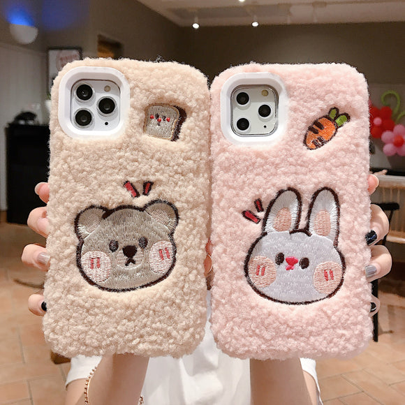 Kawaii Girl Fuzzy Iphone Case AD10610