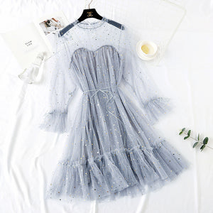 5 Colors Lace Tulle Dress AD10845