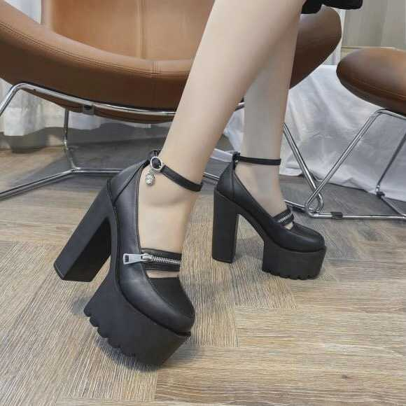 Girly Strap Zipper Shoes AD11618