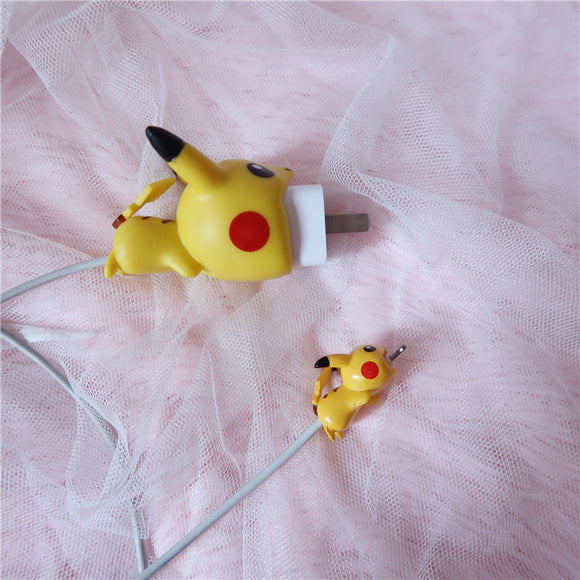 Pikachu Iphone Charger Line Protection Head AD11118
