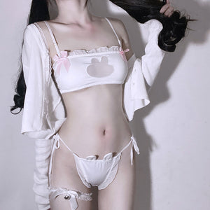 White Bunny Lingeries Suit AD12203