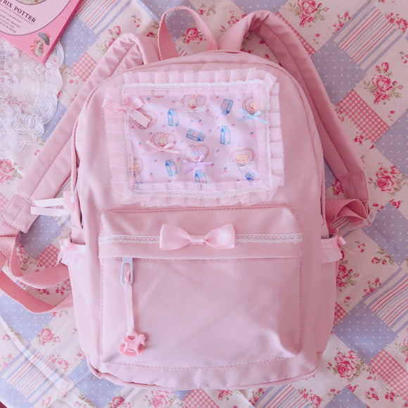 Lolita Pink Lace Backpack AD10958