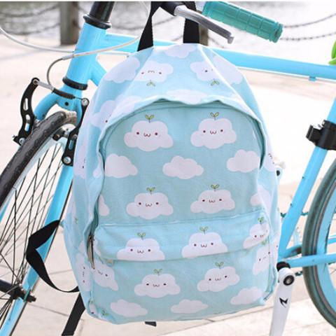 Cute Cartoon Clouds Printing Backpack AD0291