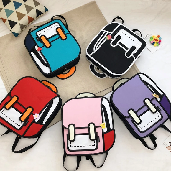 3D Harajuku Look Backpack AD10624