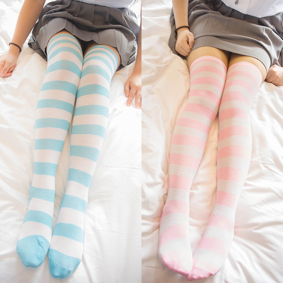 Japanese Cosplay Stripe Stockings AD10206