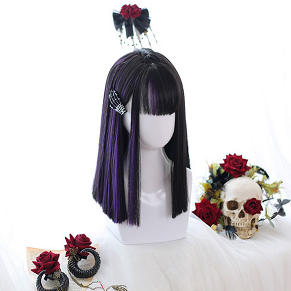Lolita Purple Straight Hair Wigs AD11391