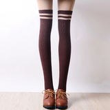 Students Stripe Knee-High Socks AD0191