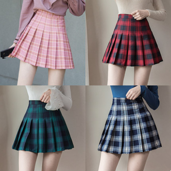 Student Grid Pleated Tennis Skirt AD1297