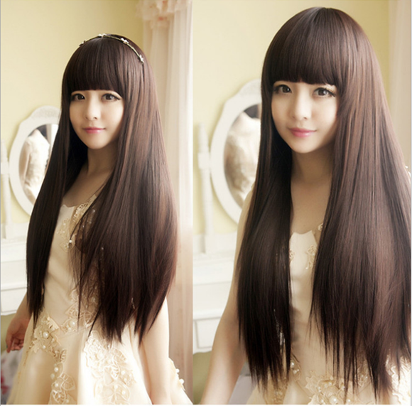Black Straight Hair Wig AD10103