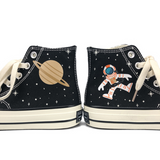 Astronauts Hand-painted Canvas Shoes AD11026