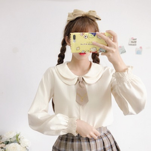 Students Blouse + Braces Skirt Set AD11473