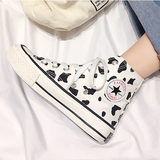 Milk Spots Hand-painted Canvas Shoes AD10195