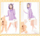 Neko Cat Ears Purple Hooded AD10168