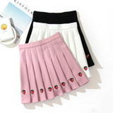 Strawberry Pleated Skirt AD10284