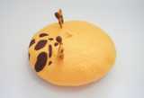 Yellow Giraffe Wool Beret AD10289