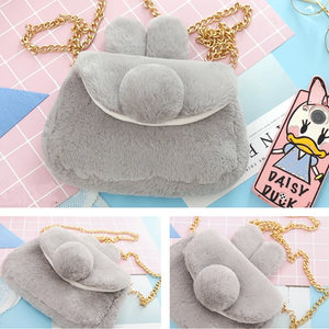 Kawaii Plush Bunny Ear Shoulder Bag AD12163