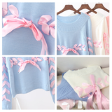 Blue/pink/white sweater AD0326