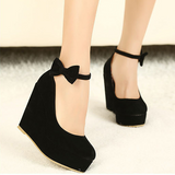 Red/Black Bow Single Heels Shoes AD10239