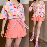 Kawaii Heart All Over Blouse AD12102