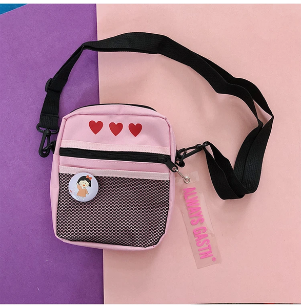 Cute Heart Print Bag AD10954