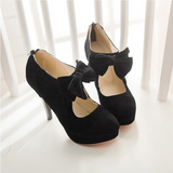Sweet Bow Heeled Shoes AD0012