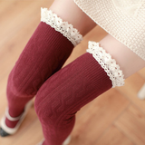 Crochet Lace Thigh High Stockings AD10086