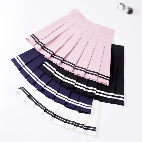Tall Waist Tennis Pleated Skirt AD10378