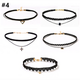 Black Collar Set