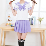 Sailor Short-Sleeved Bow School Uniforms Outfit AD10171