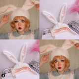 Kawaii Plush Rabbit Ears Hat AD10531