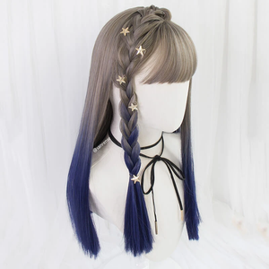 JK Gray Blue Gradient Wig AD20001