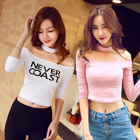 Fashion Off-The-Shoulder T-shirt AD10387