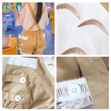 Kawaii Cartoon Tototro Straps Shorts/Tee AD10056