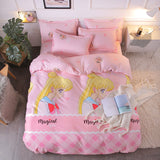 Pink Sailor Moon Bed Sheet 4 Pieces AD11857