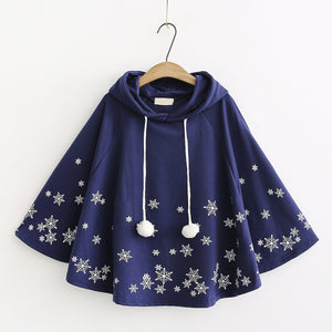 Snowflake Hooded Cloak AD12550