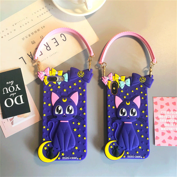 Sailor Moon Luna Cat Iphone Case AD10370