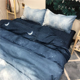 Gradient Blue Bed Sheet 4 Pieces AD11839