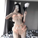 Lace Sweet Ruffle Lingerie Set AD12537