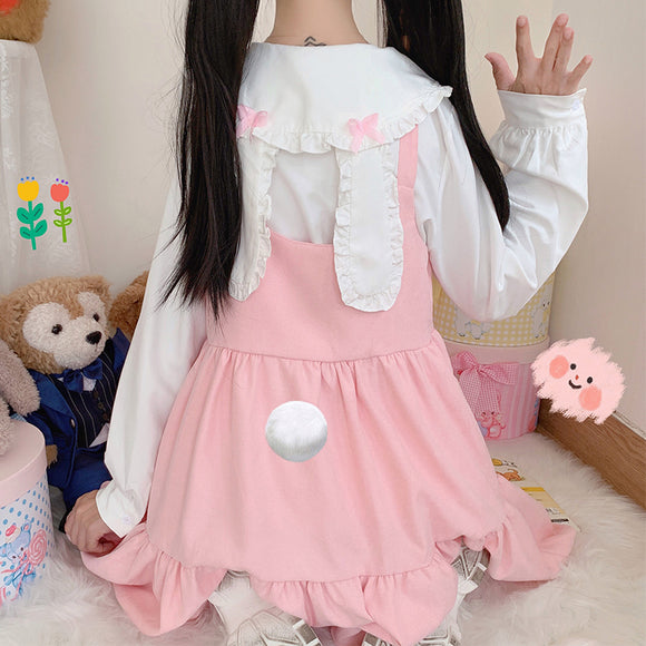 Bunny Shirt + Braces Dress Suit AD12710