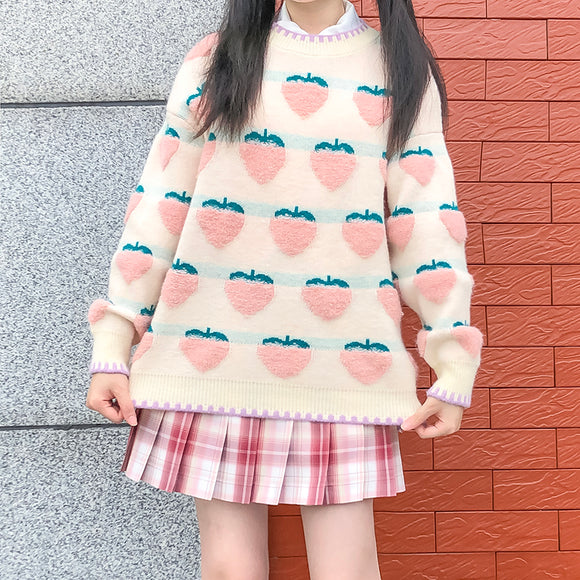 Peach Sweater AD12723