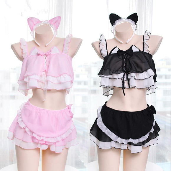Kitty Cat Maid Six Piece Lingerie Set AD10245