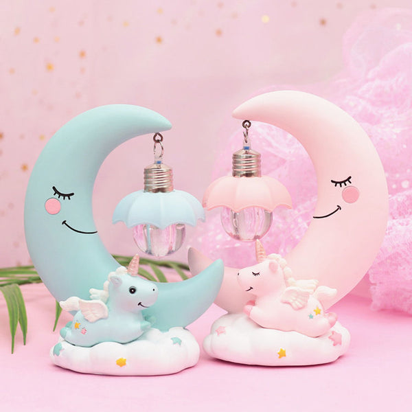 Pink/Blue Moon Table Lamp Gift AD10129