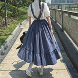 Japanese Blouse + Braces Skirt Set AD11463