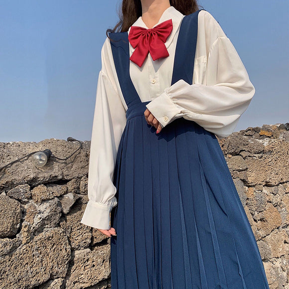 Sweet Blouse + Braces Skirt Outfit AD11341