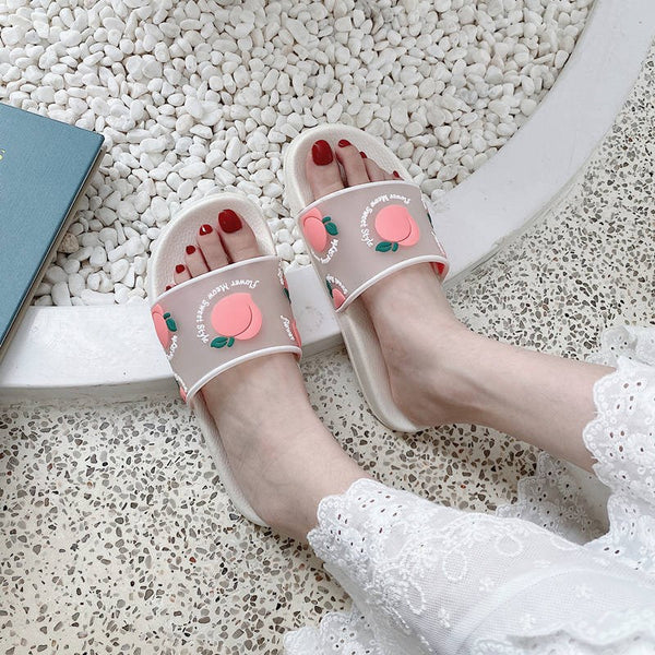 Transparent Fruits Print Sandals AD11939