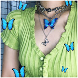 Cute Vintage Butterfly Necklace AD12139
