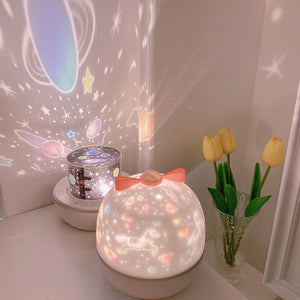 Romantic LED Rotating Music Projector Starry Night Light AD11508